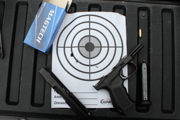 Canik TP9 Target At 10 Yards